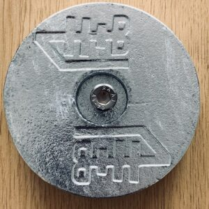 Counter Sunk Recessed H+B Technics Zinc Anodes for Bathing Platform Lifters